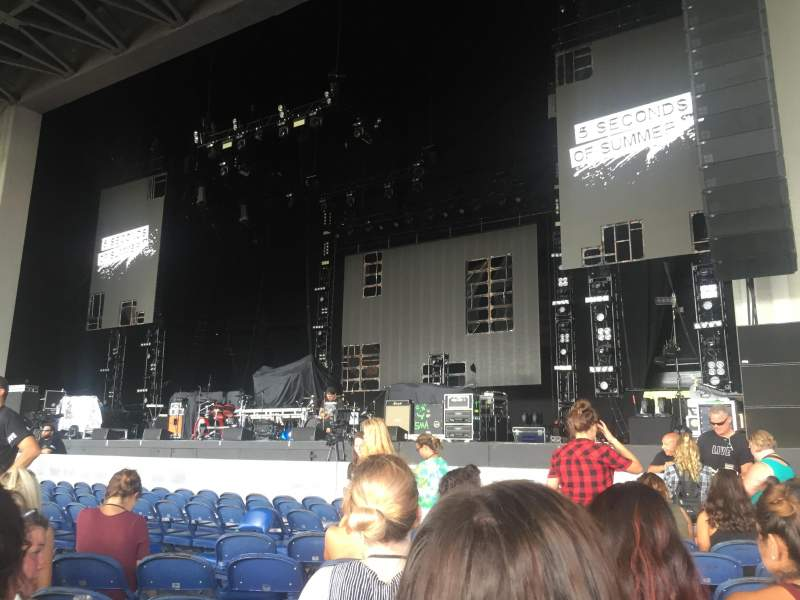 Seating view for PNC Music Pavilion Section 1 Row K Seat 18