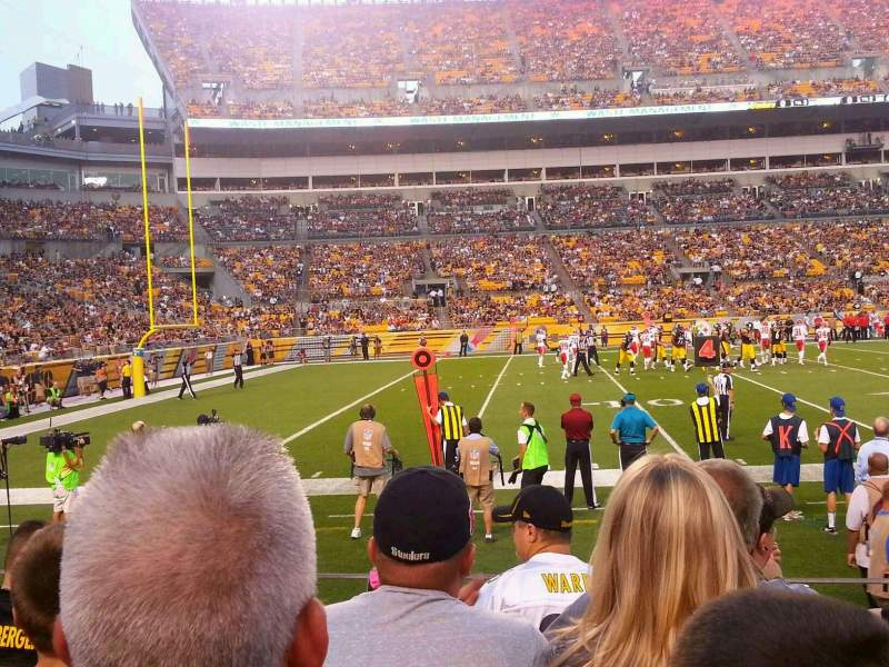 Seating view for Heinz Field Section 131 Row E Seat 6