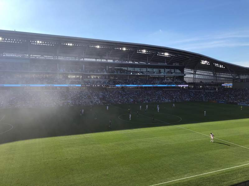 Seating view for Allianz Field Section 115 Row 1 Seat 14