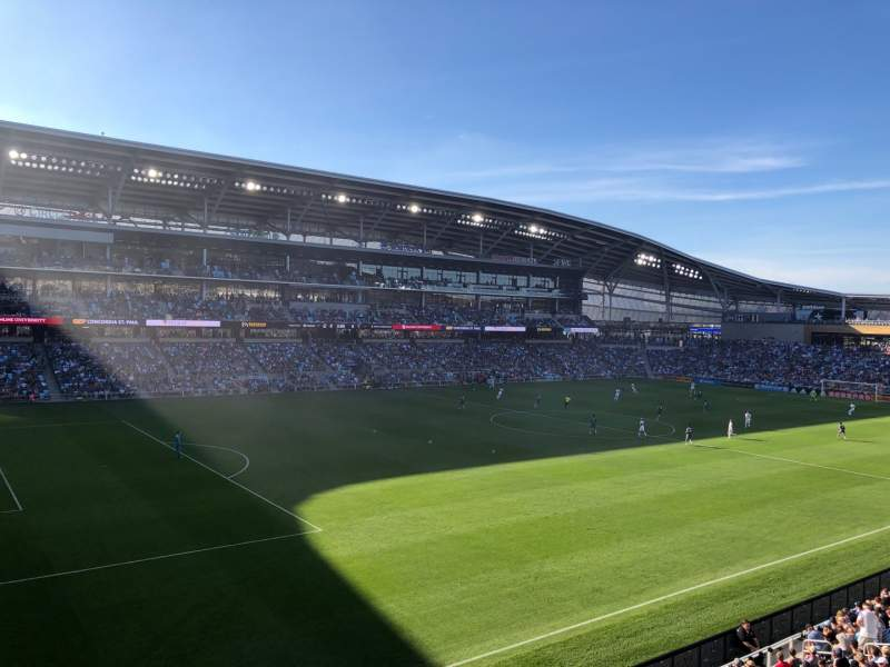 Seating view for Allianz Field Section 117 Row 2 Seat 16