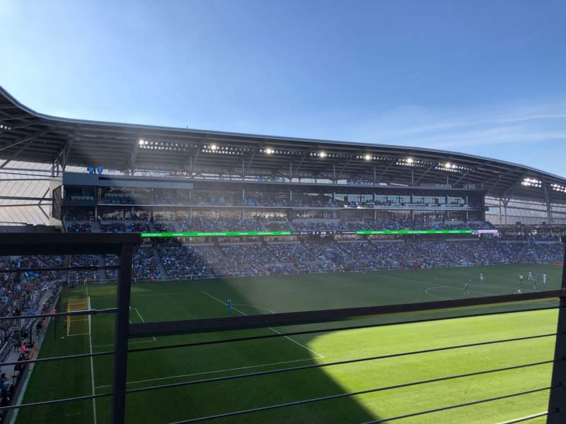 Seating view for Allianz Field Section 118 Row 1 Seat 3