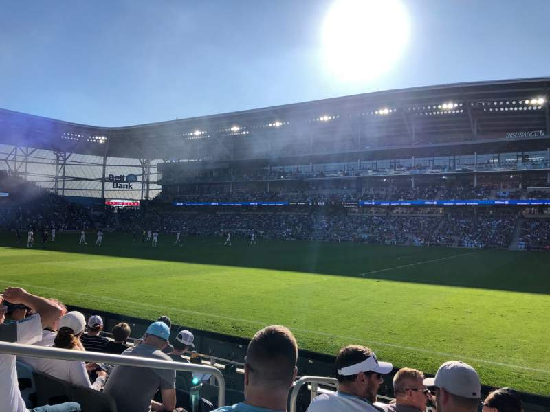 Seating view for Allianz Field Section 109 Row 6 Seat 16
