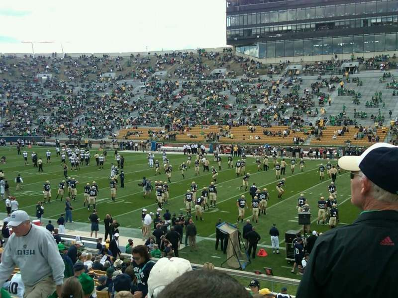 Seating view for Notre Dame Stadium Section 9 Row 34 Seat 7