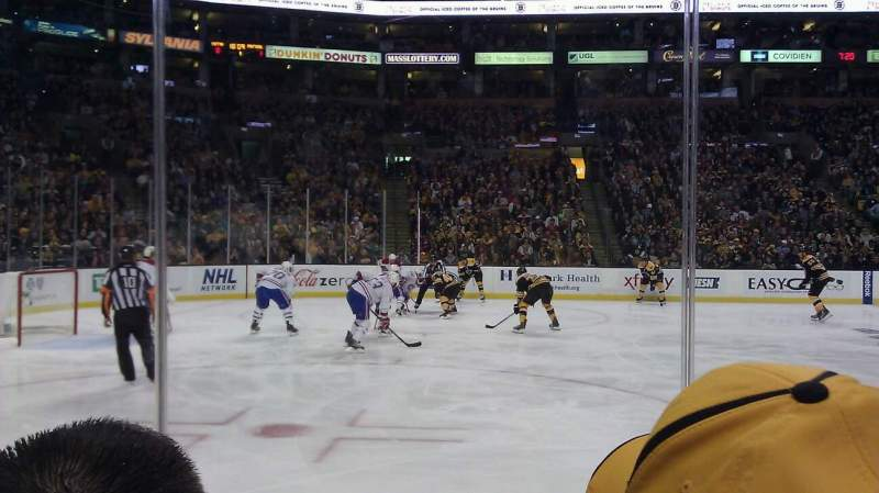 Seating view for TD Garden Section Loge 3 Row 3 Seat 5