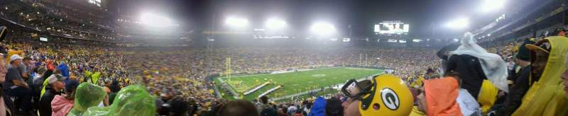 Seating view for Lambeau Field Section 129 Row 54 Seat 30