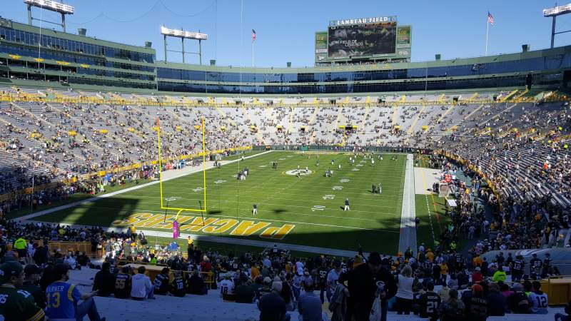 Seating view for Lambeau Field Section 135 Row 48 Seat 26
