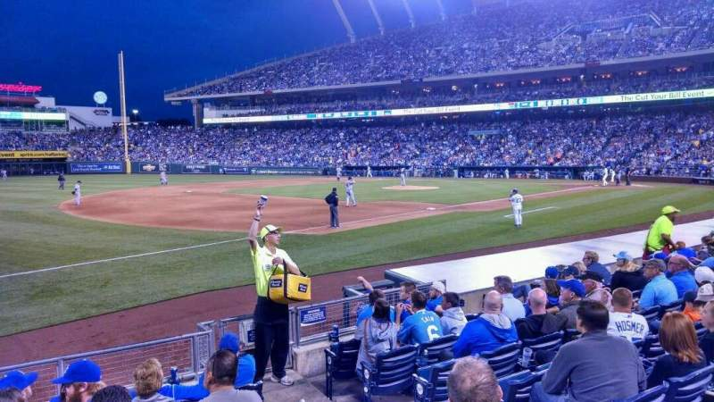Seating view for Kauffman Stadium Section 115 Row H Seat 8