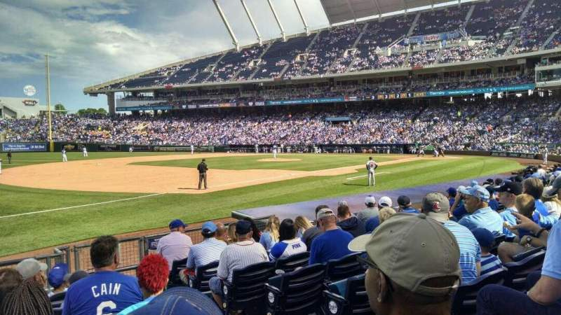Seating view for Kauffman Stadium Section 115 Row H Seat 10