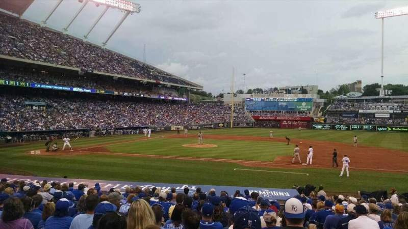 Seating view for Kauffman Stadium Section 135 Row S Seat 10