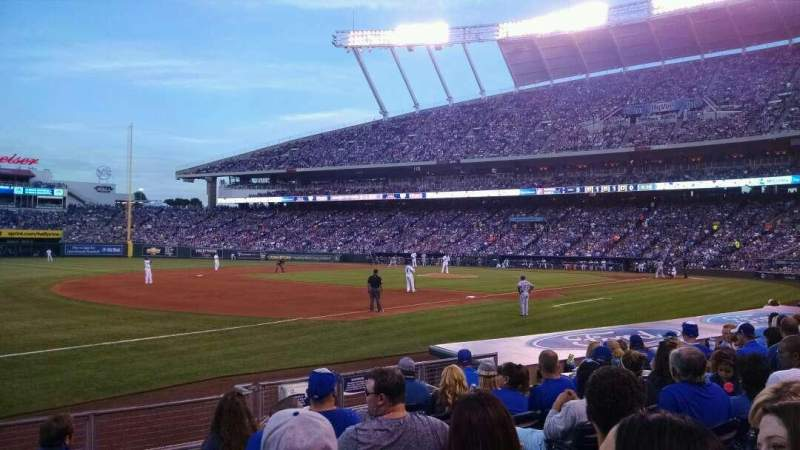 Seating view for Kauffman Stadium Section 115 Row H Seat 7