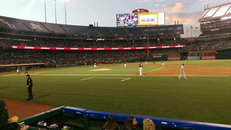 Seating view for Oakland Alameda Coliseum Section 111 Row 4 Seat 5