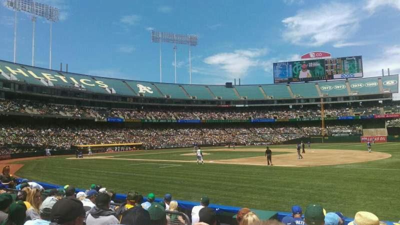 Seating view for Oakland Alameda Coliseum Section 109 Row 6 Seat 10