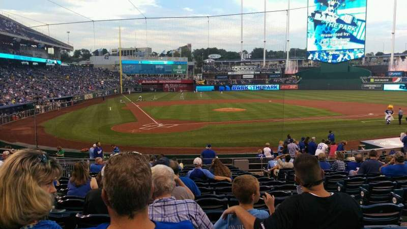 Seating view for Kauffman Stadium Section 130 Row T Seat 10