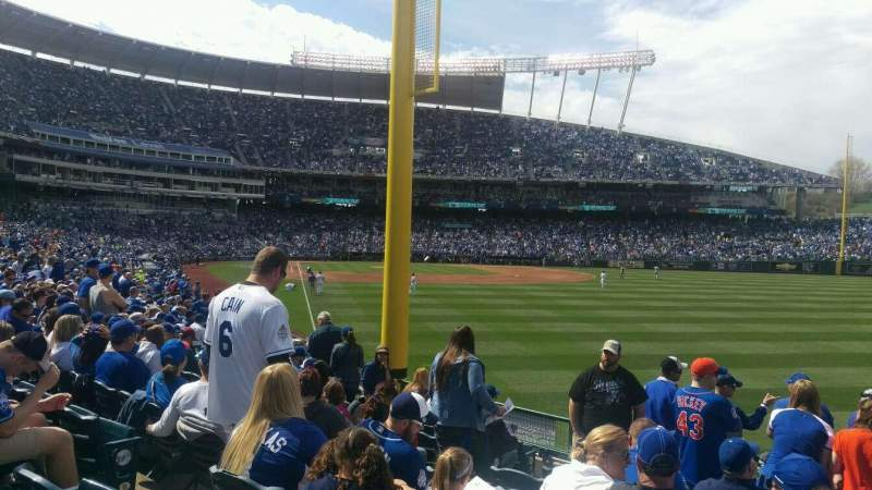 Seating view for Kauffman Stadium Section 148 Row u Seat 6