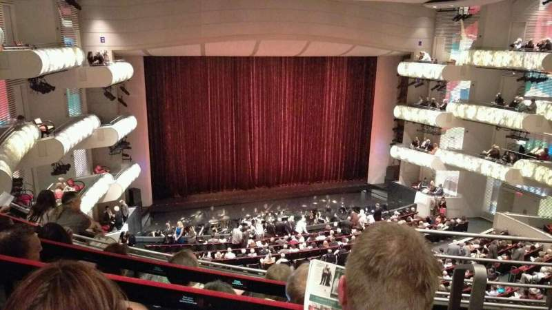 Seating view for Muriel Kauffman Theatre Section Grand Tier Left Row EEE Seat 916