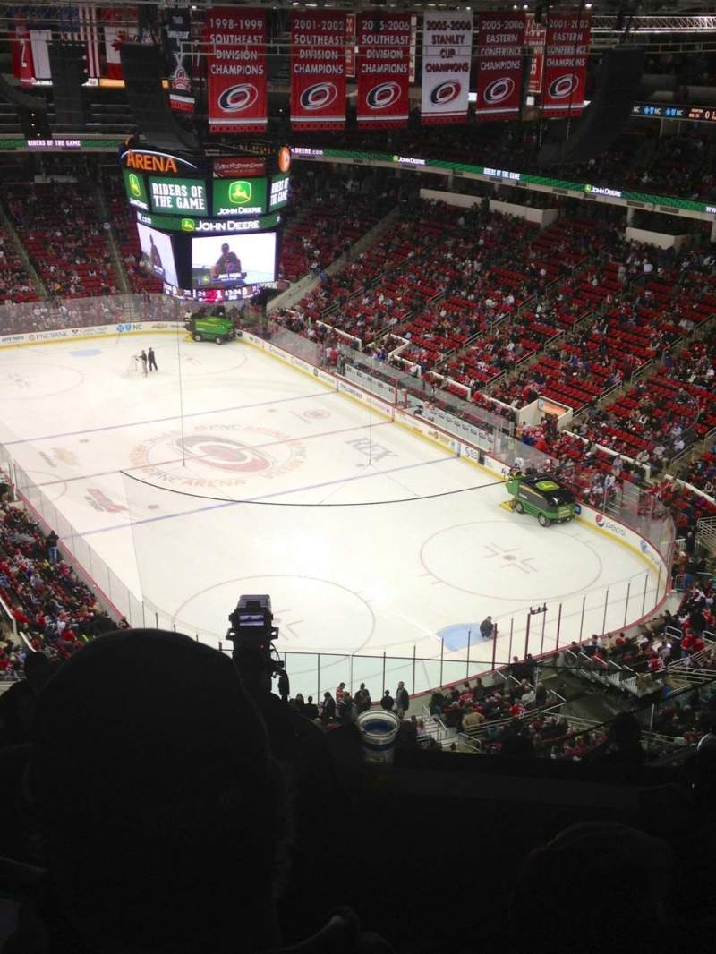 Seating view for PNC Arena Section 317 Row J Seat 5