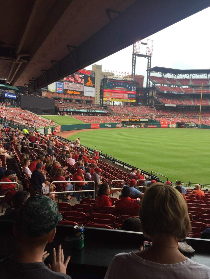 Seating view for Busch Stadium Section LFL Row B Seat 8