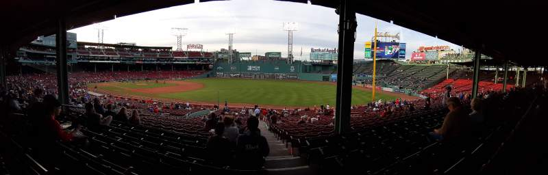 Seating view for Fenway Park Section Grandstand 10 Row 7 Seat 1