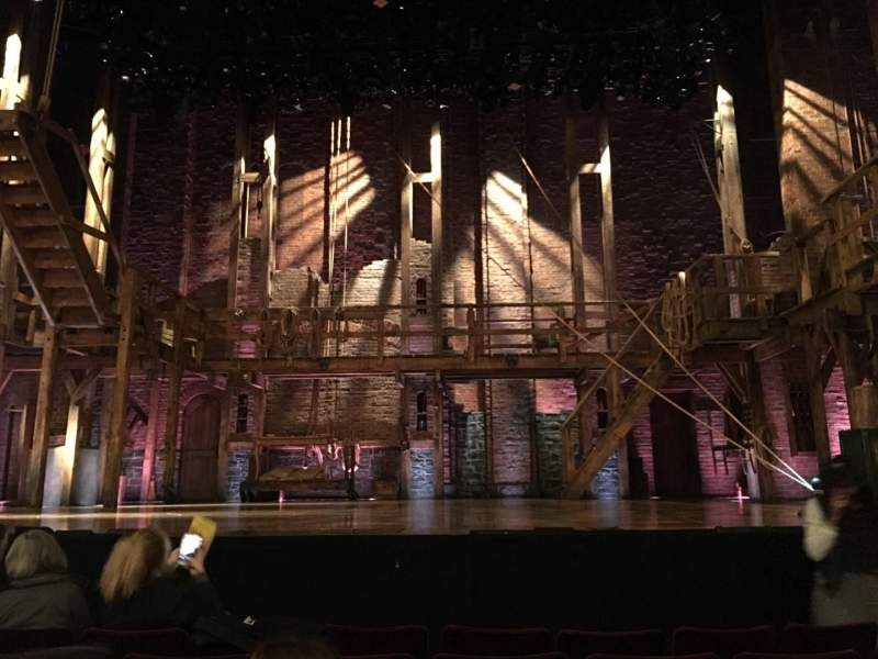 Seating view for Richard Rodgers Theatre Section Orchestra C Row E Seat 106