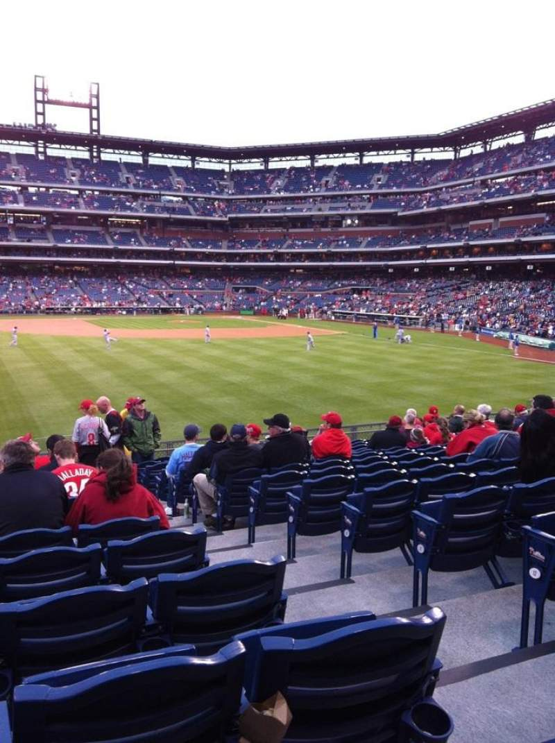 Seating view for Citizens Bank Park Section 145 Row 15 Seat 3