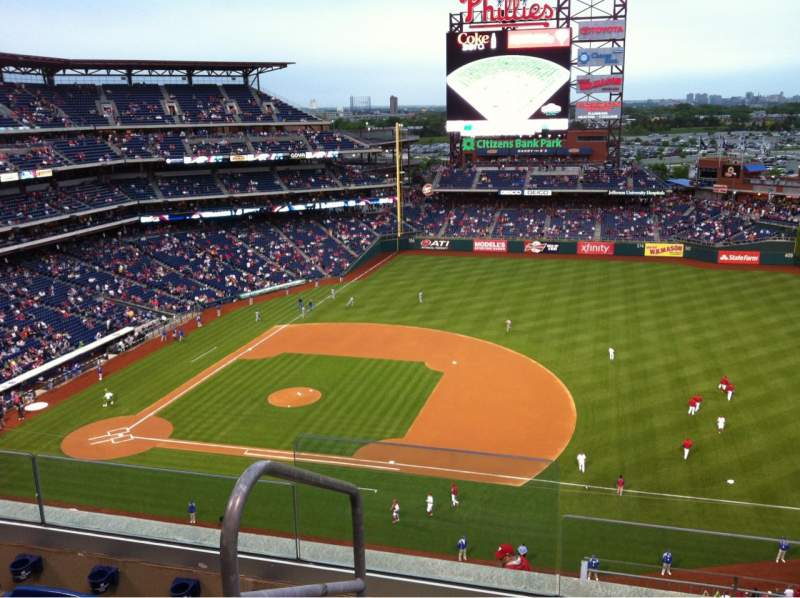 Seating view for Citizens Bank Park Section 413 Row 4 Seat 24