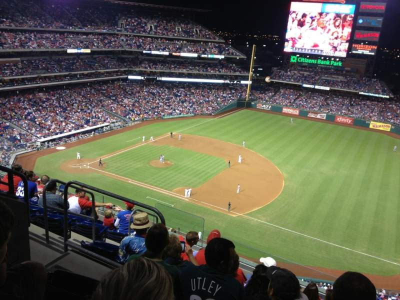 Seating view for Citizens Bank Park Section 412 Row 8 Seat 7