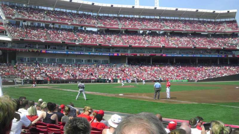 Seating view for Great American Ball Park Section 133 Row I Seat 9