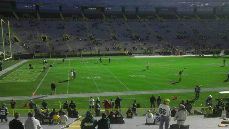 Seating view for Lambeau Field Section 114 Row 32