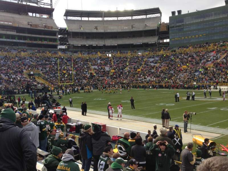 Seating view for Lambeau Field Section 115 Row 12 Seat 19
