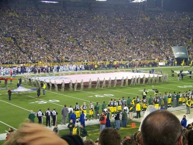 Seating view for Lambeau Field Section 112 Row 35