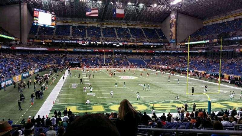 Seating view for Alamodome Section 103 Row 27 Seat 4