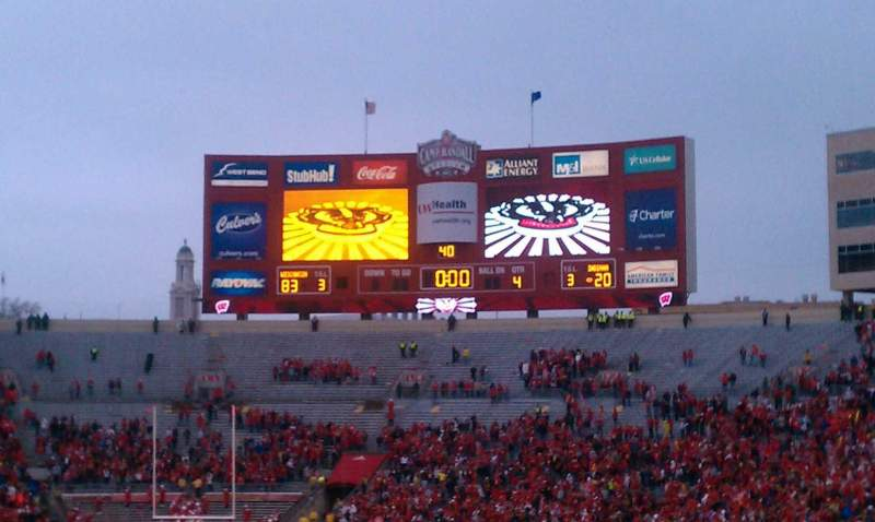 Seating view for Camp Randall Stadium Section X Row 35 Seat 28