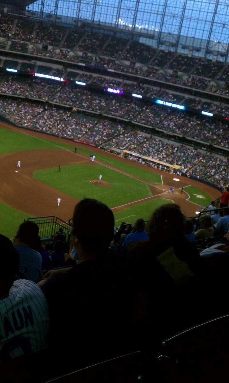 Seating view for American Family Field Section 435 Row 21 Seat 12
