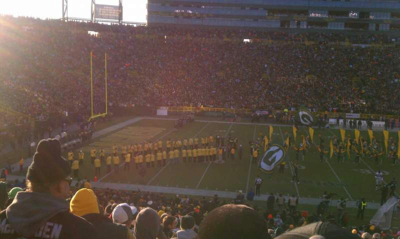 Seating view for Lambeau Field Section 125 Row 35 Seat 1