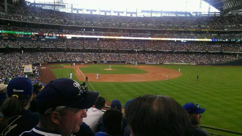 Seating view for Miller Park Section 206 Row 5 Seat 9