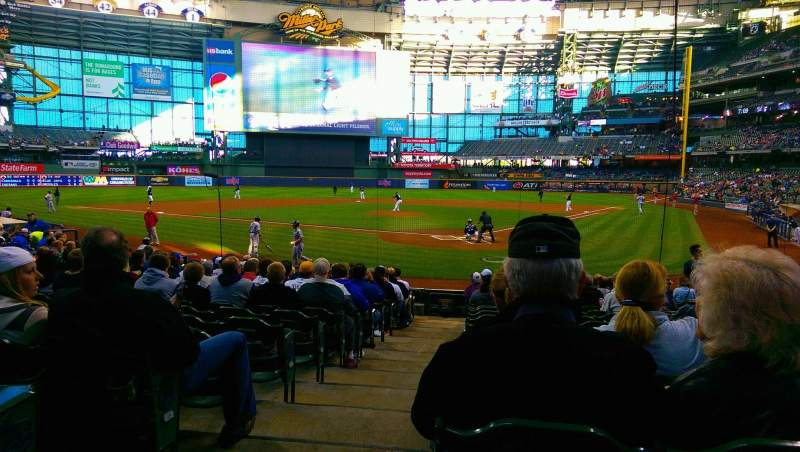 Seating view for Miller Park Section 118 Row 16 Seat 21