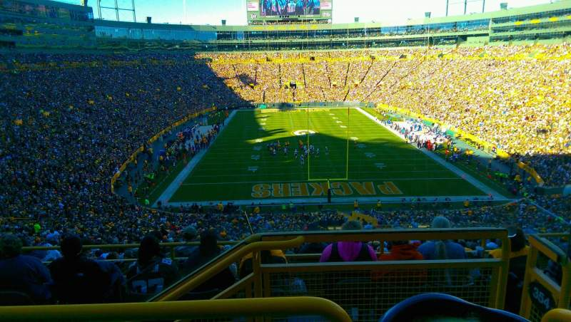 Seating view for Lambeau Field Section 352 Row 3 Seat 31