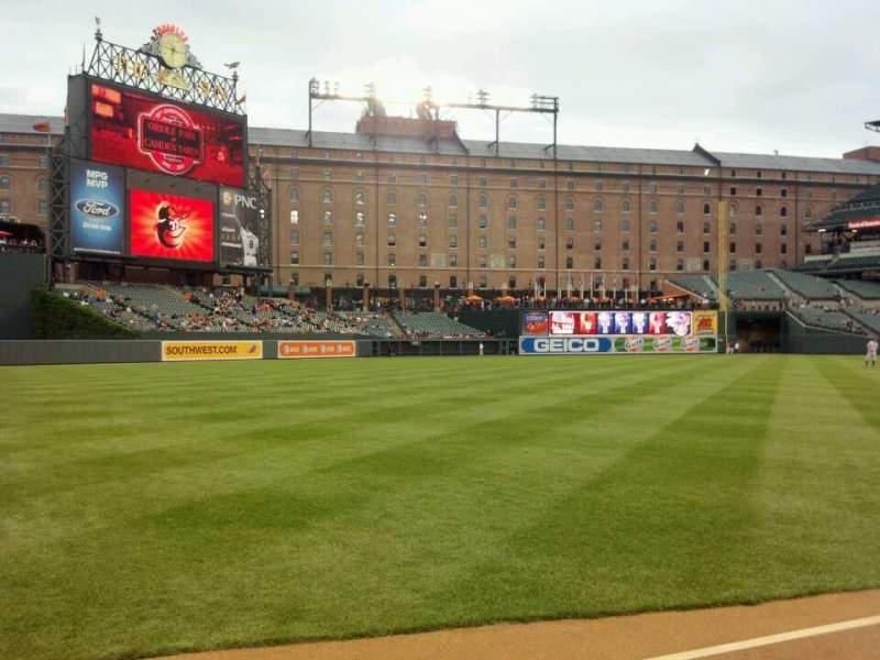 Seating view for Oriole Park at Camden Yards Section 68 Row 1 Seat 20