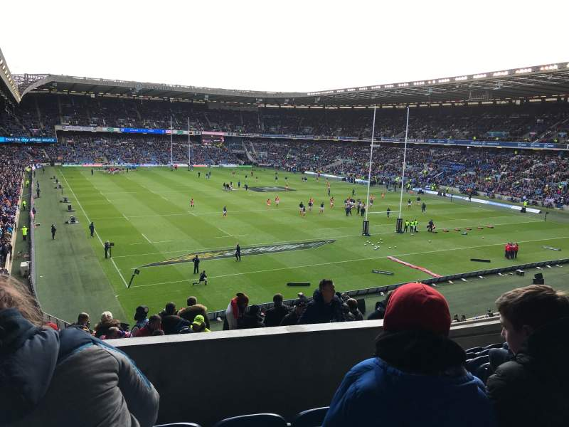 Seating view for Murrayfield Stadium Section north Row N Seat 16
