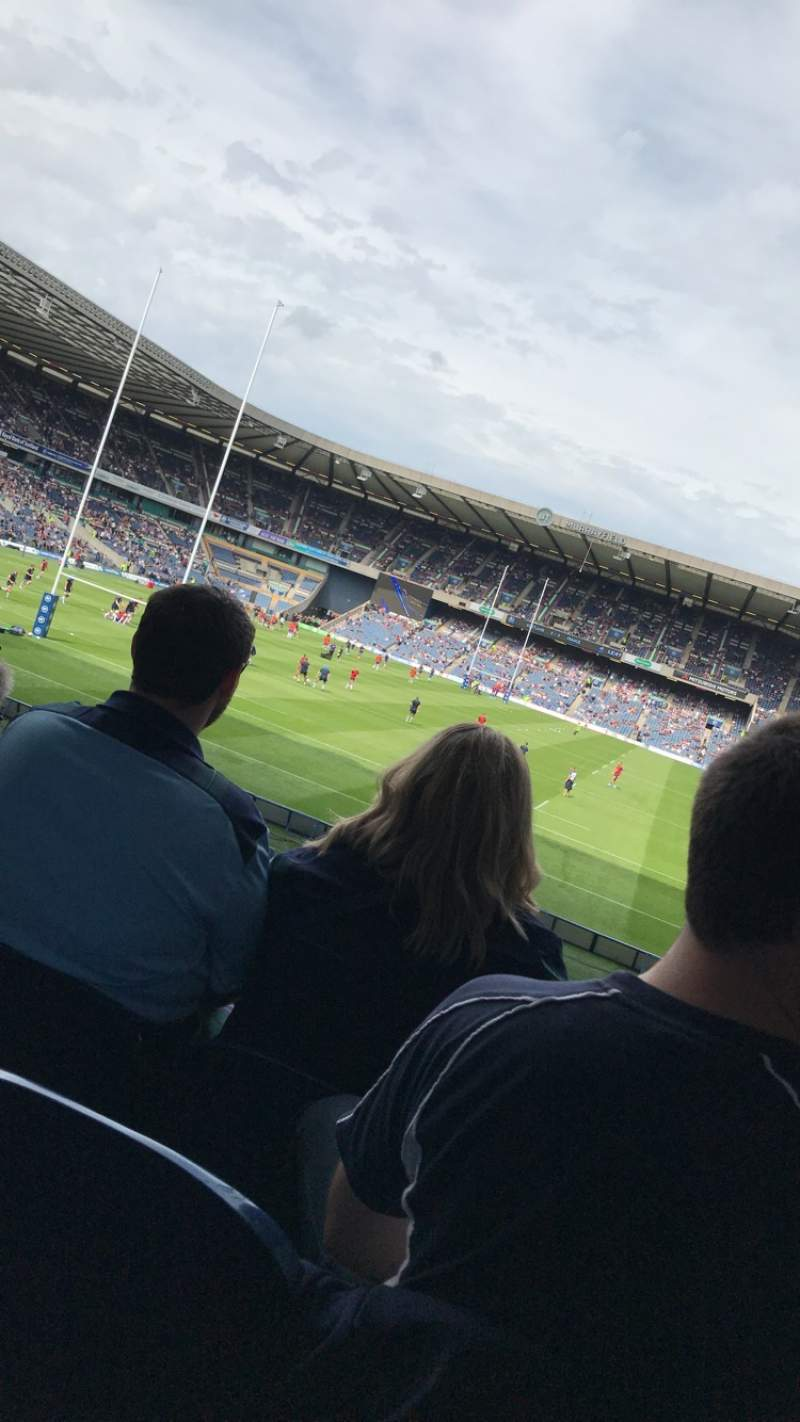 Seating view for Murrayfield Stadium Section south Row BB Seat 6
