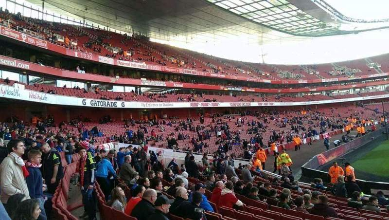 Seating view for Emirates Stadium Section 20 Row 15