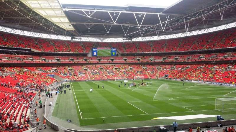 Seating view for Wembley Stadium