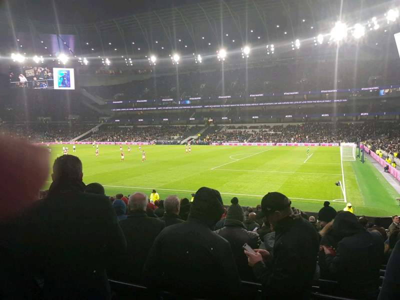 Seating view for Tottenham Hotspur Stadium Section 117 Row 11 Seat 535