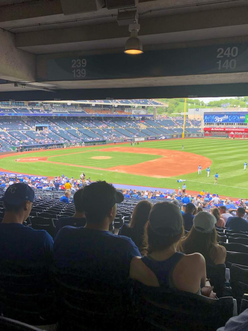 Seating view for Kauffman Stadium Section 240 Row TT Seat 3