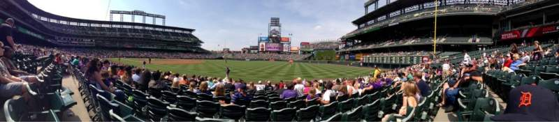 Seating view for Coors Field Section 116 Row 11 Seat 11