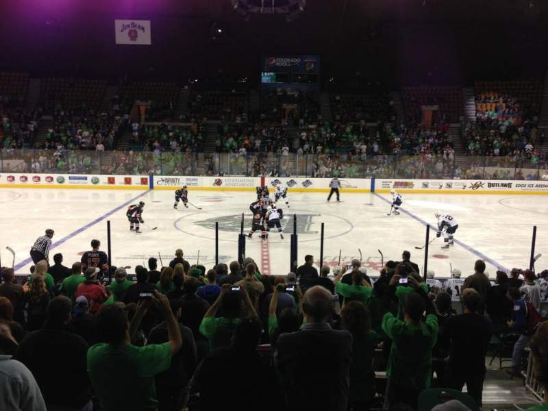 Seating view for Denver Coliseum Section 127 Row 8 Seat 6