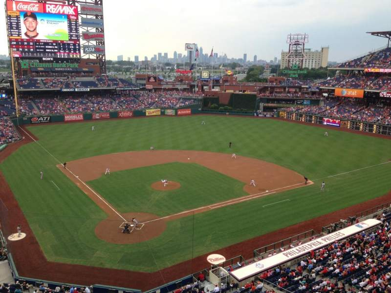 Seating view for Citizens Bank Park Section 319 Row 1 Seat 9
