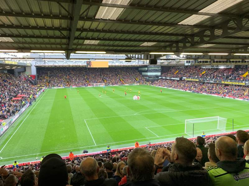 Seating view for Vicarage Road Section VRS1 Row V Seat 37