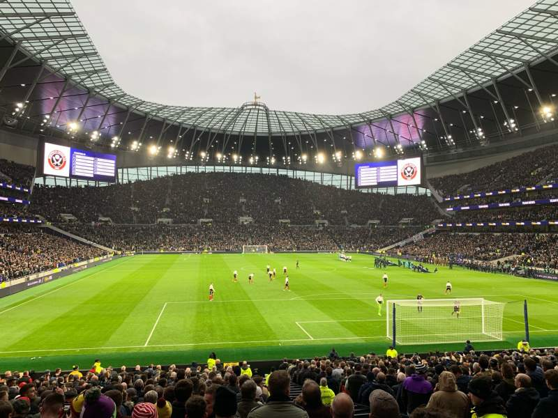 Seating view for Tottenham Hotspur Stadium Section 114 Row 27 Seat 405