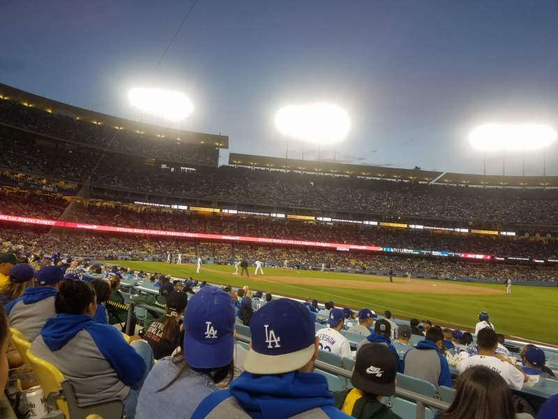 Seating view for Dodger Stadium Section 40FD Row C Seat 5